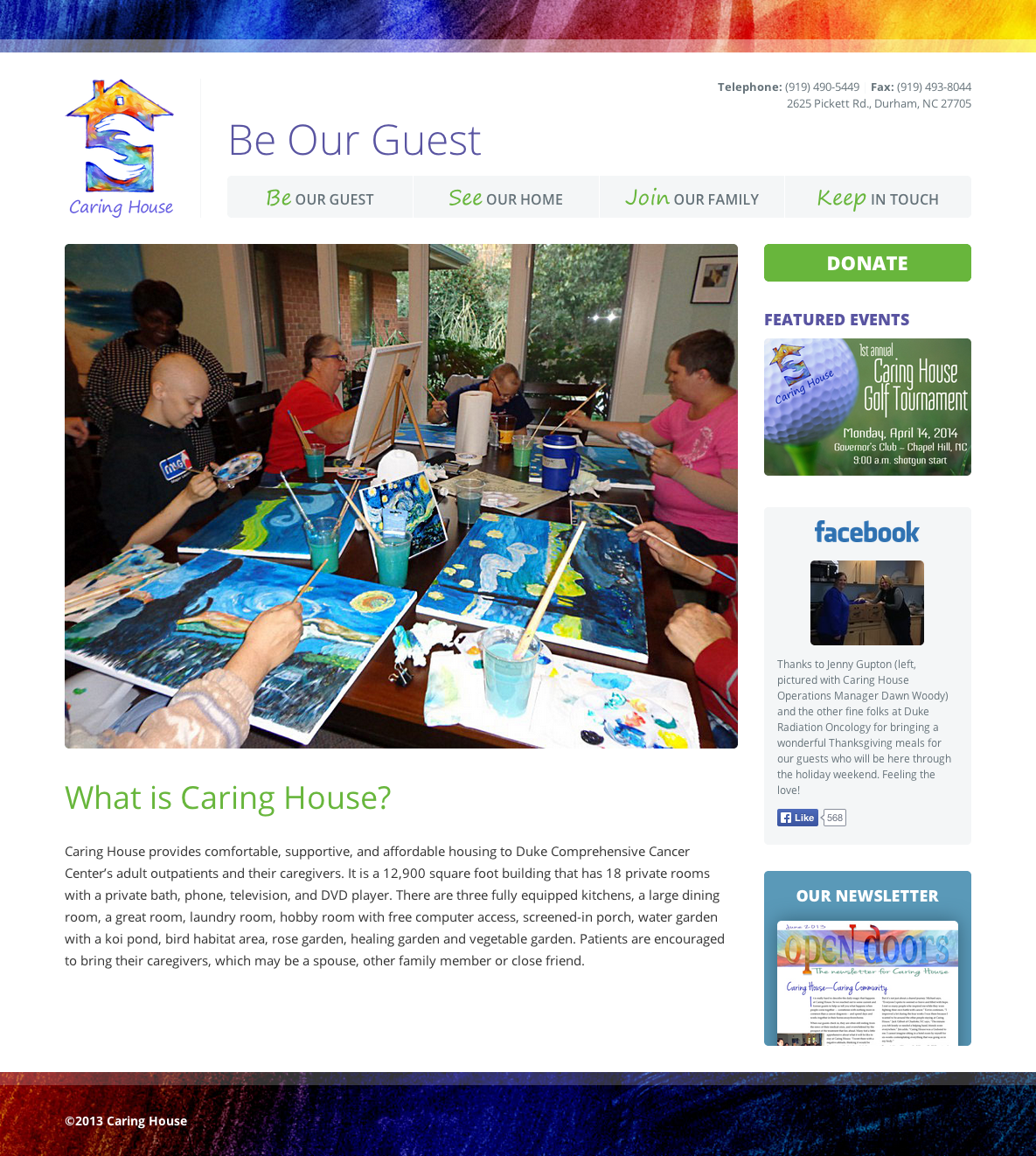 New Caring House website