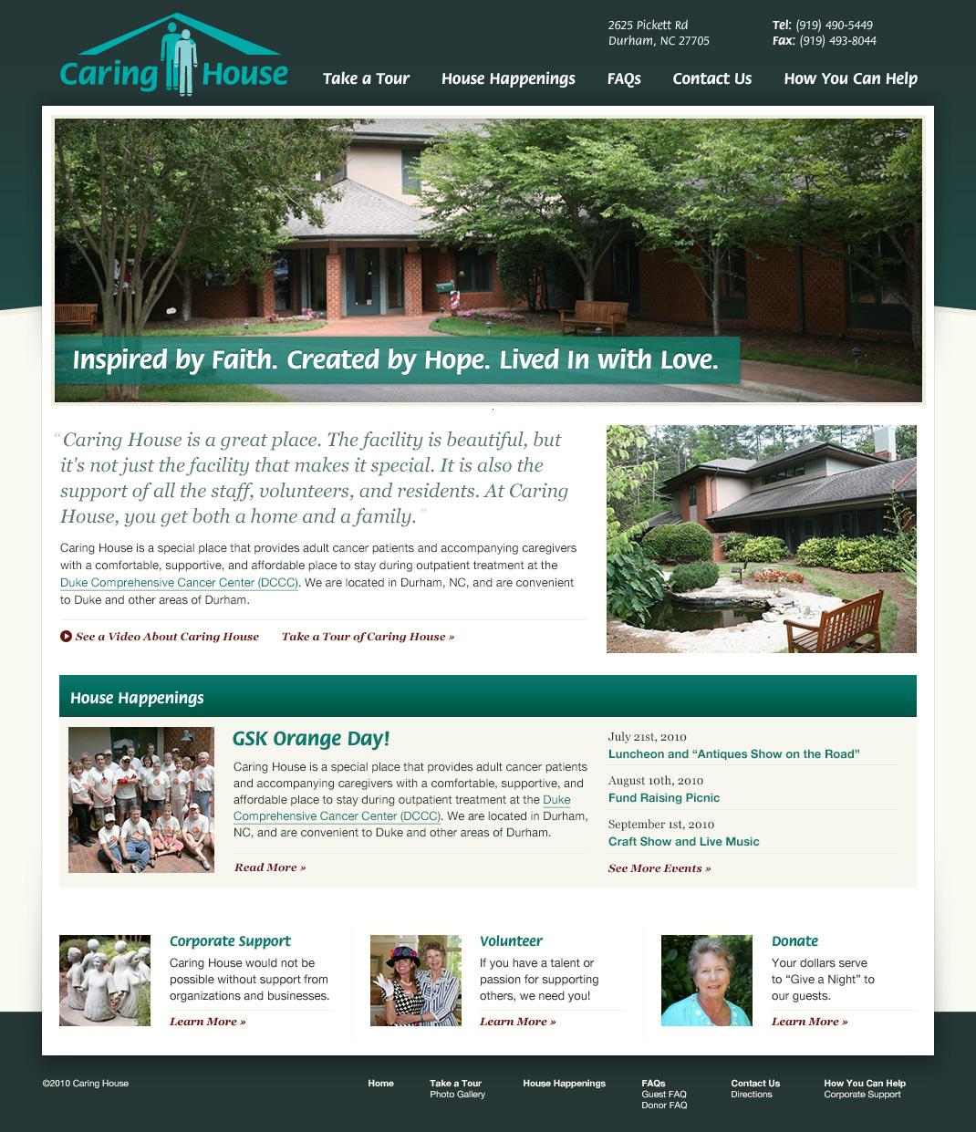 Original Caring House website